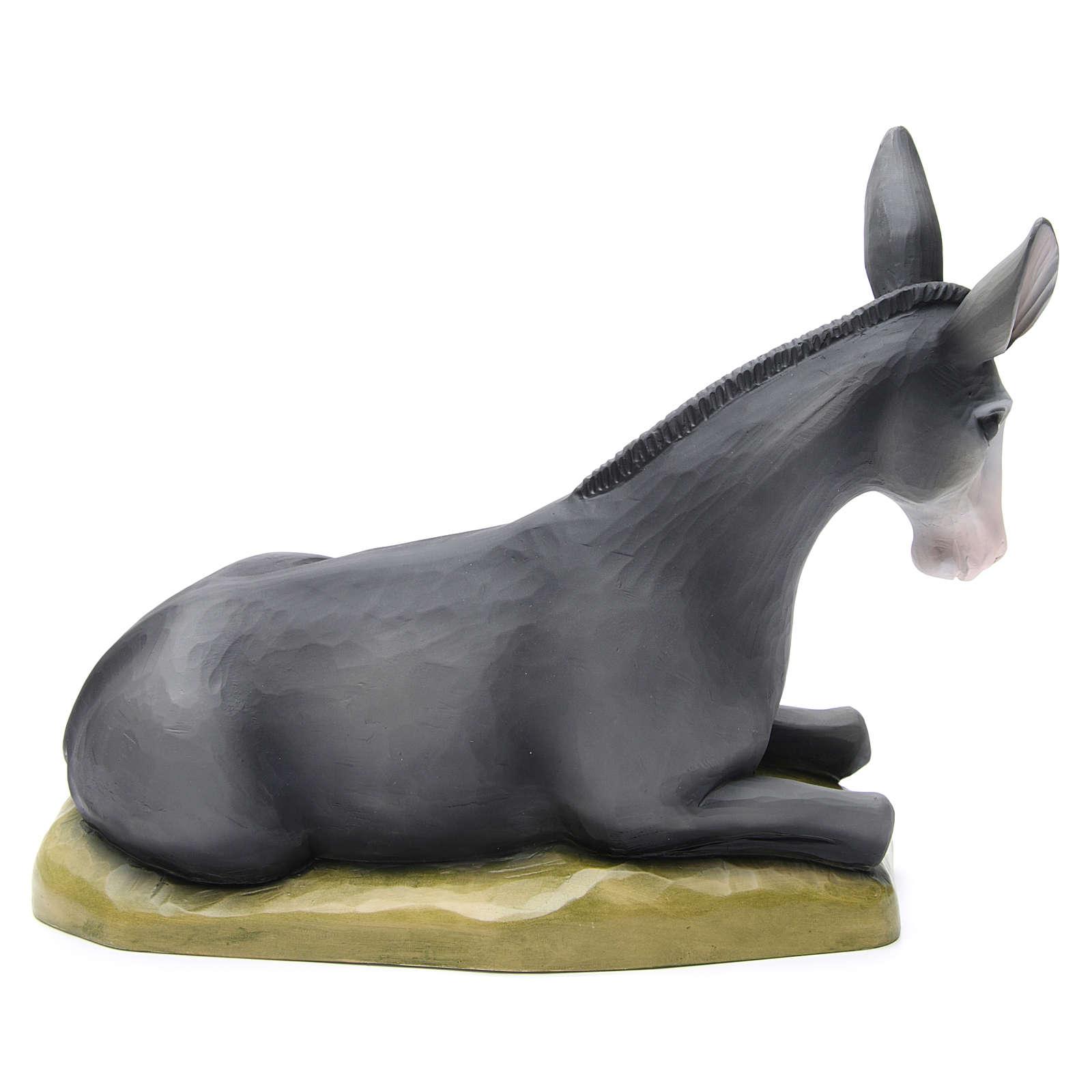 Boeuf et âne fibre de verre peinte crèche 80cm 4