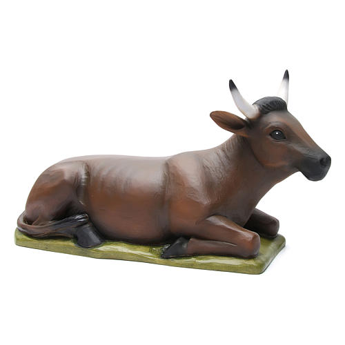 Boeuf et âne fibre de verre peinte crèche 80cm 3