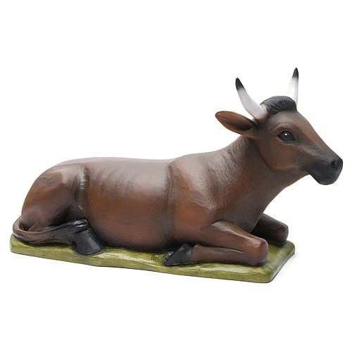 Ox and donkey, statues in painted fiberglass, 80cm 3