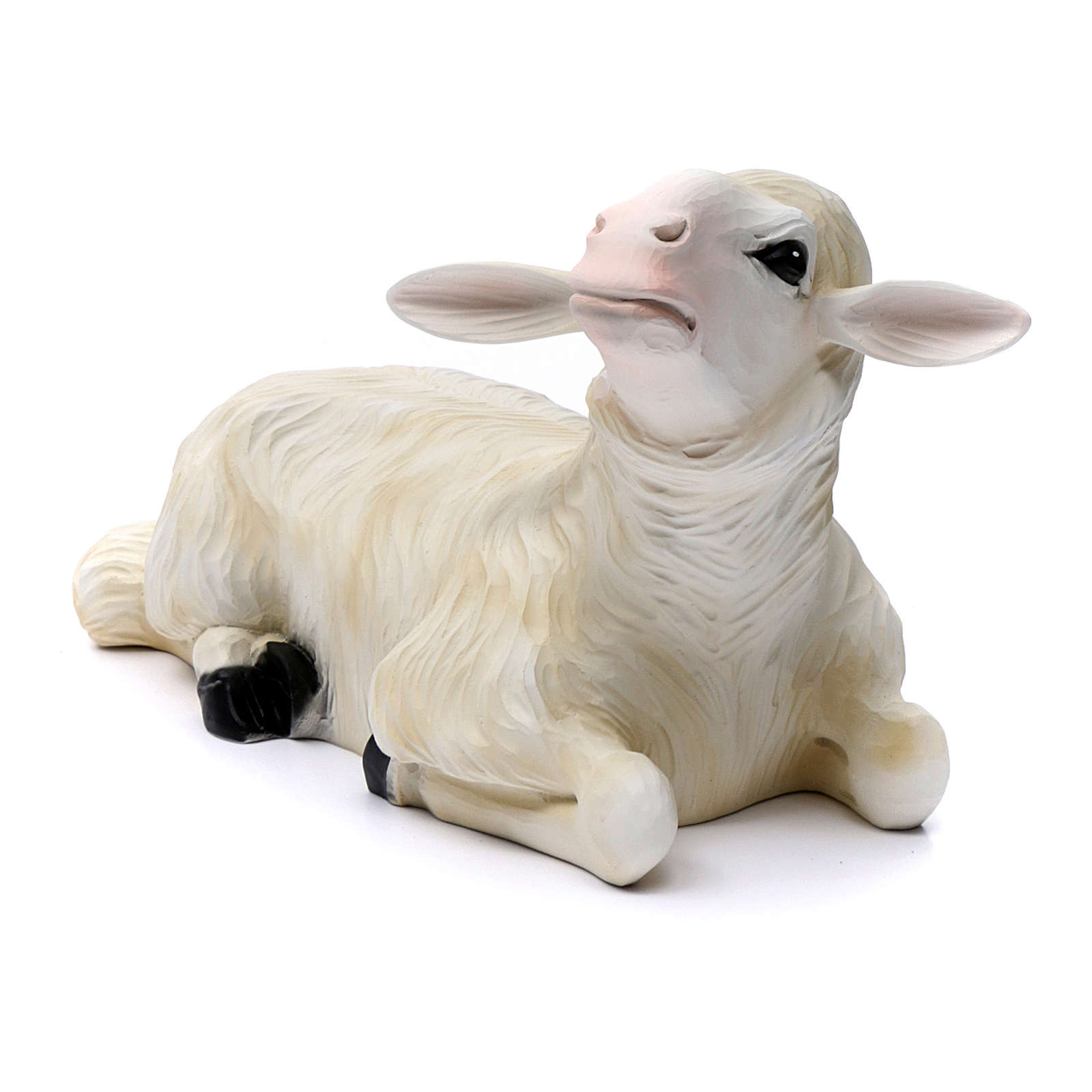Nativity scene statues 2 sheep 80 cm in painted fiberglass 4