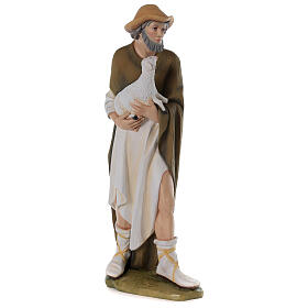 Shepherd with sheep for Nativity scene in painted fibreglass 80 cm s5