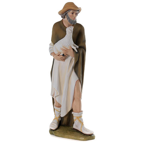 Shepherd with sheep for Nativity scene in painted fibreglass 80 cm 5