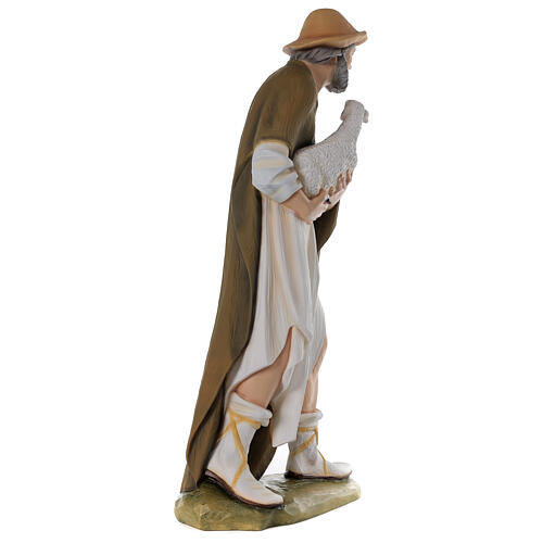 Shepherd with sheep for Nativity scene in painted fibreglass 80 cm 7