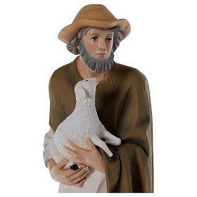 Pastor con oveja 80 cm belén fibra de vidrio pintada s2