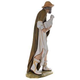 Pastor con oveja 80 cm belén fibra de vidrio pintada s7