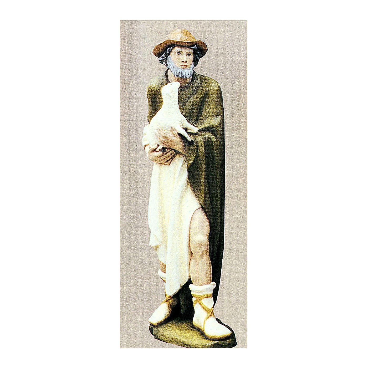 Berger avec mouton 80 cm crèche fibre de verre peinte 4