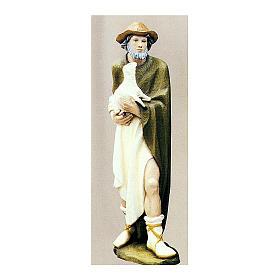 Berger avec mouton 80 cm crèche fibre de verre peinte s1