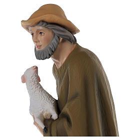 Berger avec mouton 80 cm crèche fibre de verre peinte s4