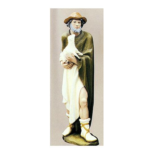 Berger avec mouton 80 cm crèche fibre de verre peinte 1