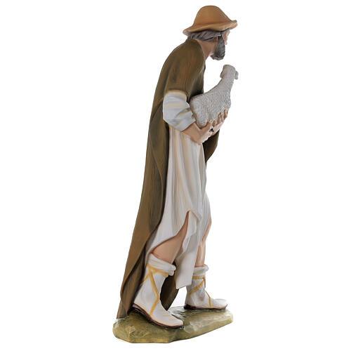 Berger avec mouton 80 cm crèche fibre de verre peinte 7