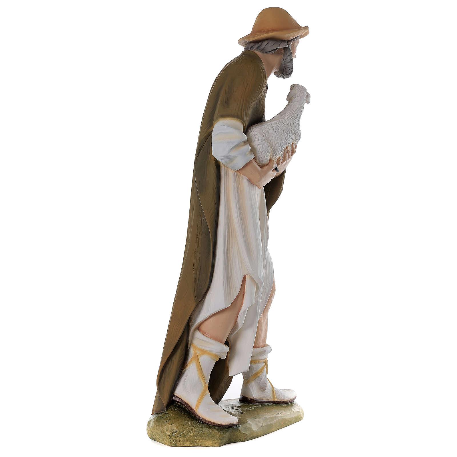 Pastore con pecora 80 cm presepe vetroresina dipinta 4