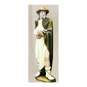 Shepherd with Small Sheep 80 cm Nativity Statue in Painted Fiberglass s1