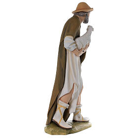 Shepherd with Small Sheep 80 cm Nativity Statue in Painted Fiberglass s7