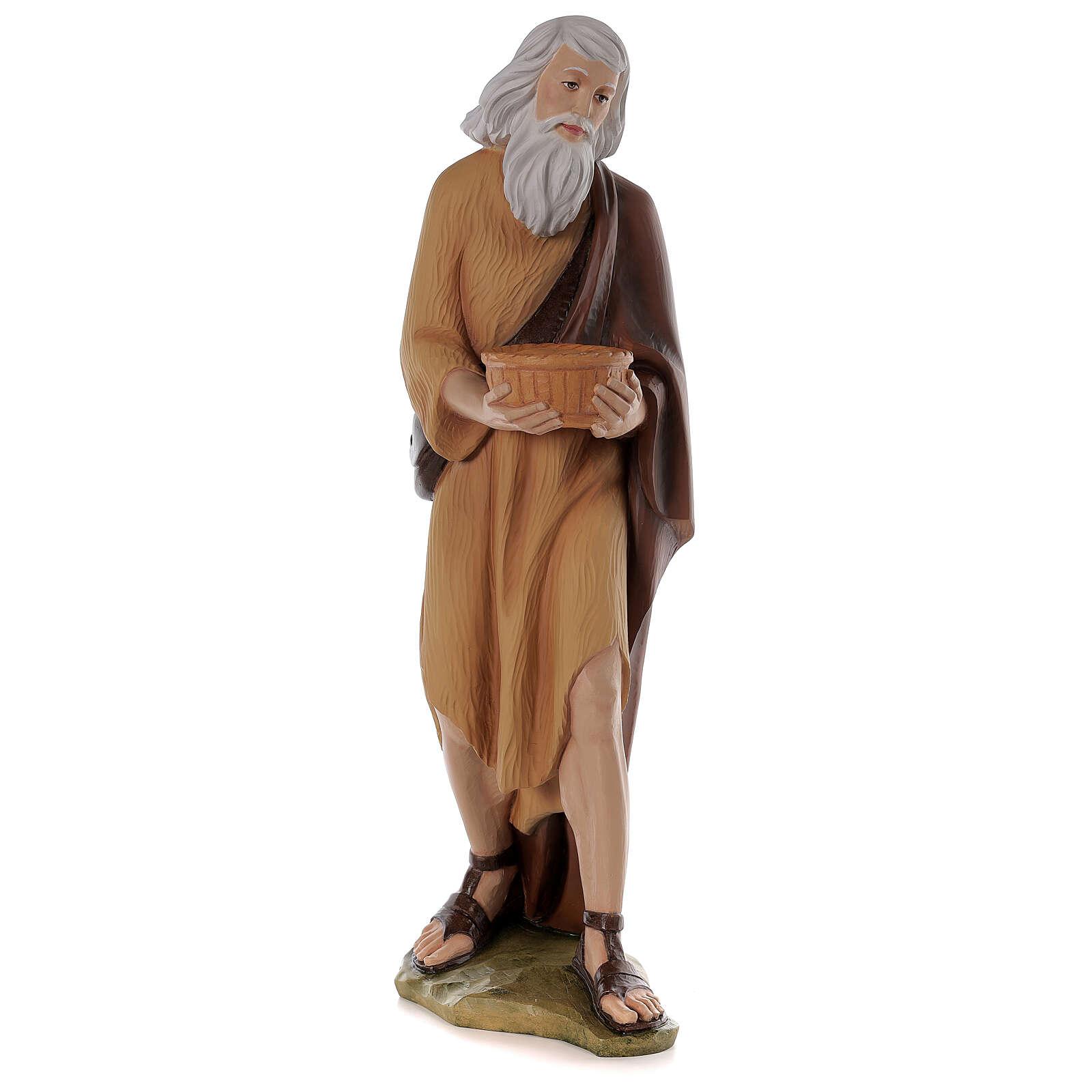 Shepherd 80 cm Nativity Statue in Painted Fiberglass 4