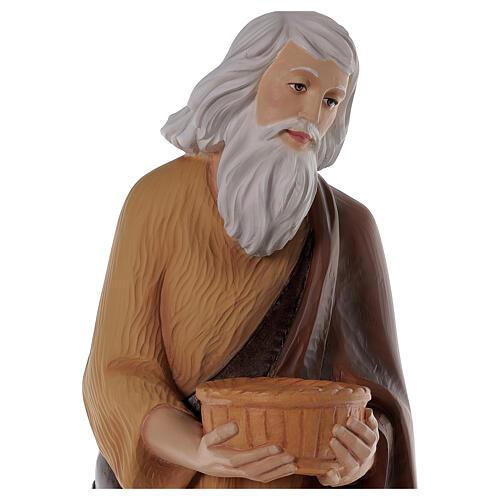 Shepherd 80 cm Nativity Statue in Painted Fiberglass 2