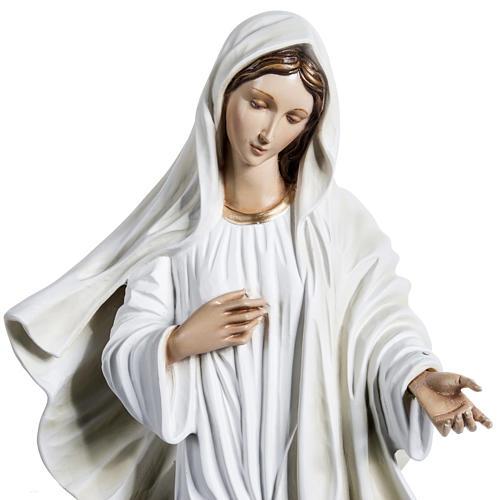 Virgen de Medjugorje 130 cm fibra de vidrio 2
