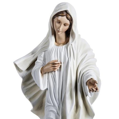 Virgen de Medjugorje 130 cm fibra de vidrio 3