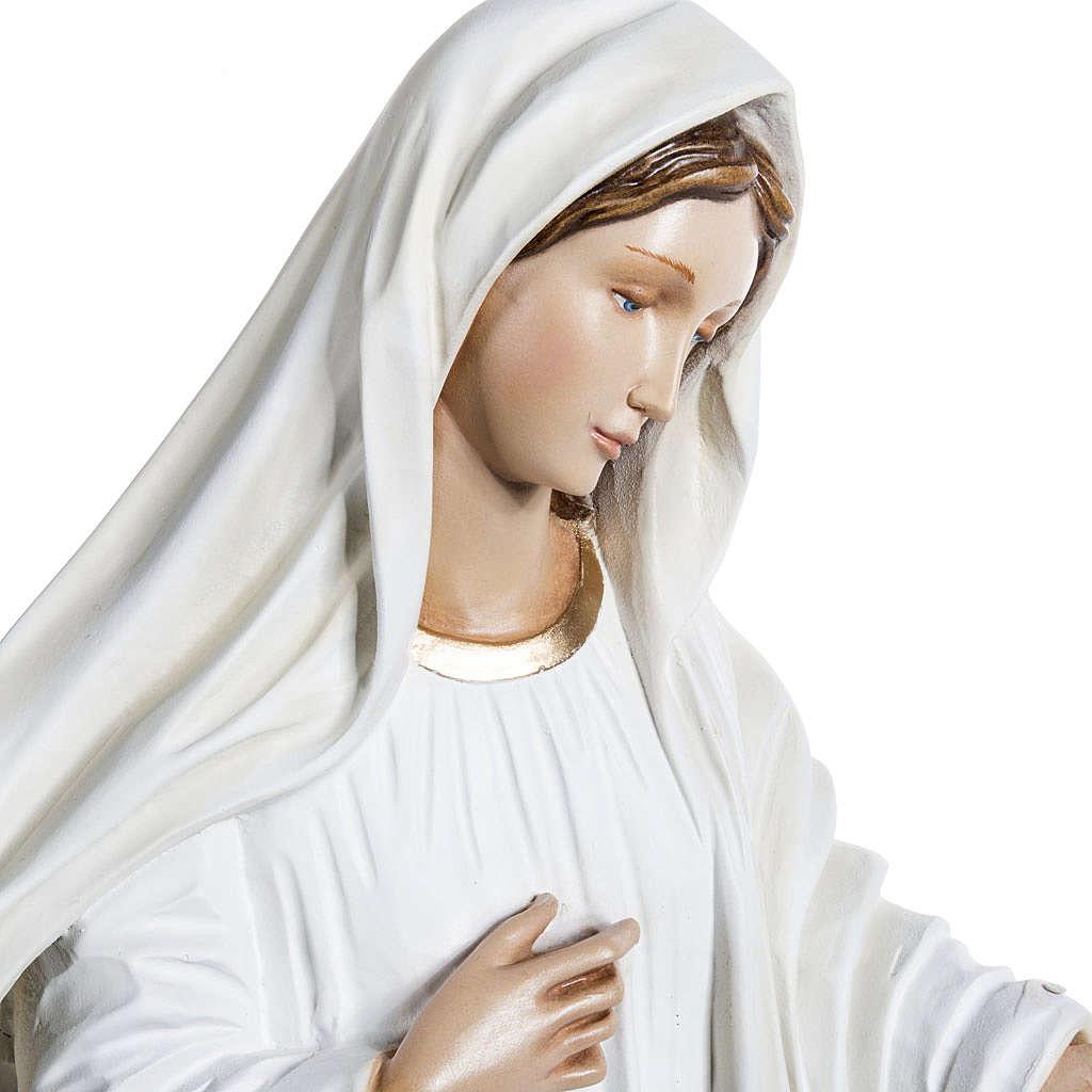 Notre-Dame de Medjugorje fibre de verre peinte 130cm 4
