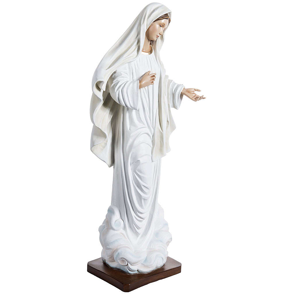 Our Lady of Medjugorje statue in painted fiberglass, 130cm 4