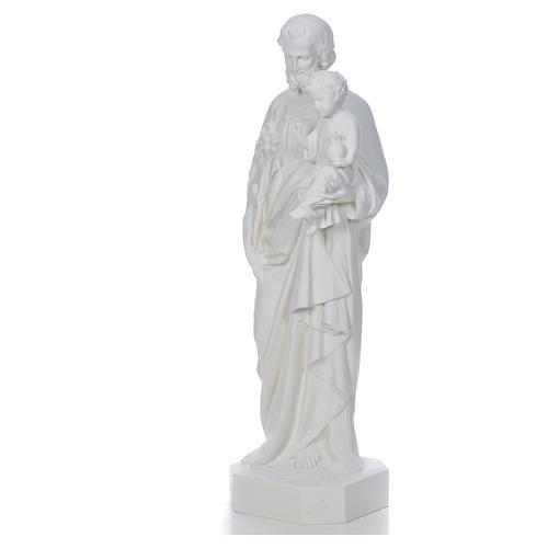 Saint Joseph à l'enfant fibre de verre blanche 130cm 2