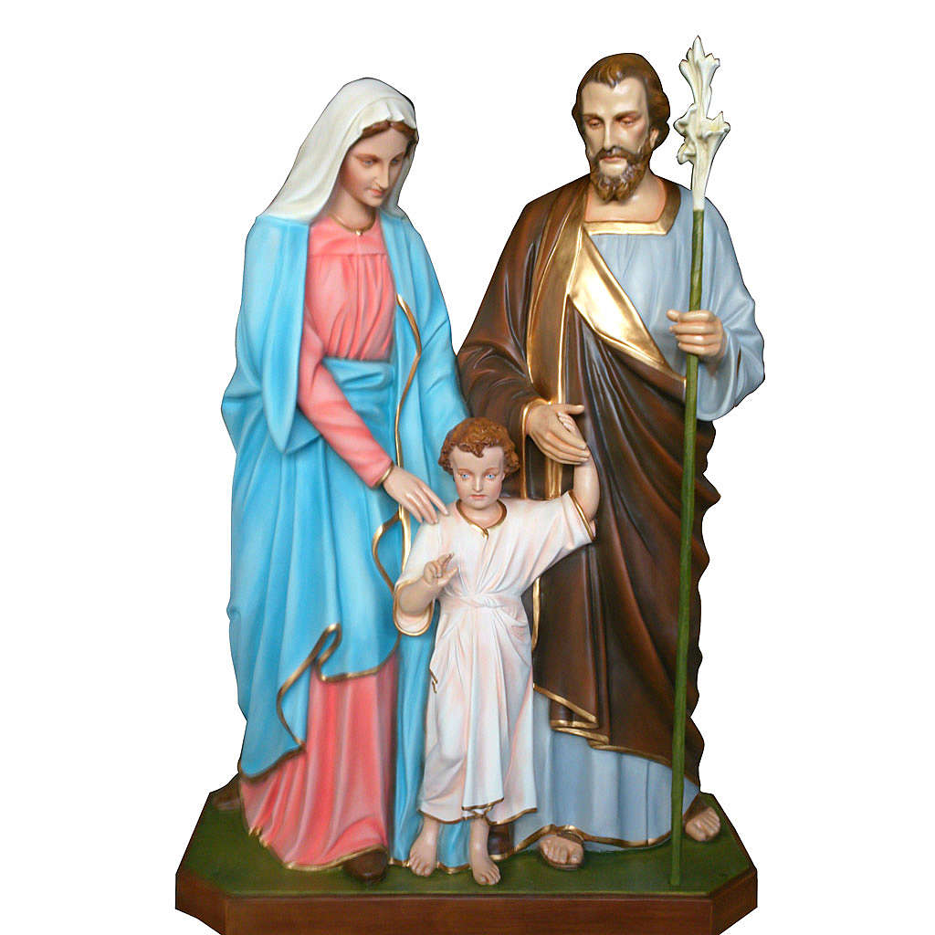 Holy Family Statue In Painted Fiberglass 170cm Online