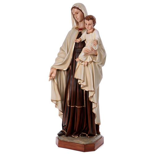 Virgen con Niño 170 cm. fibra de vidrio 3