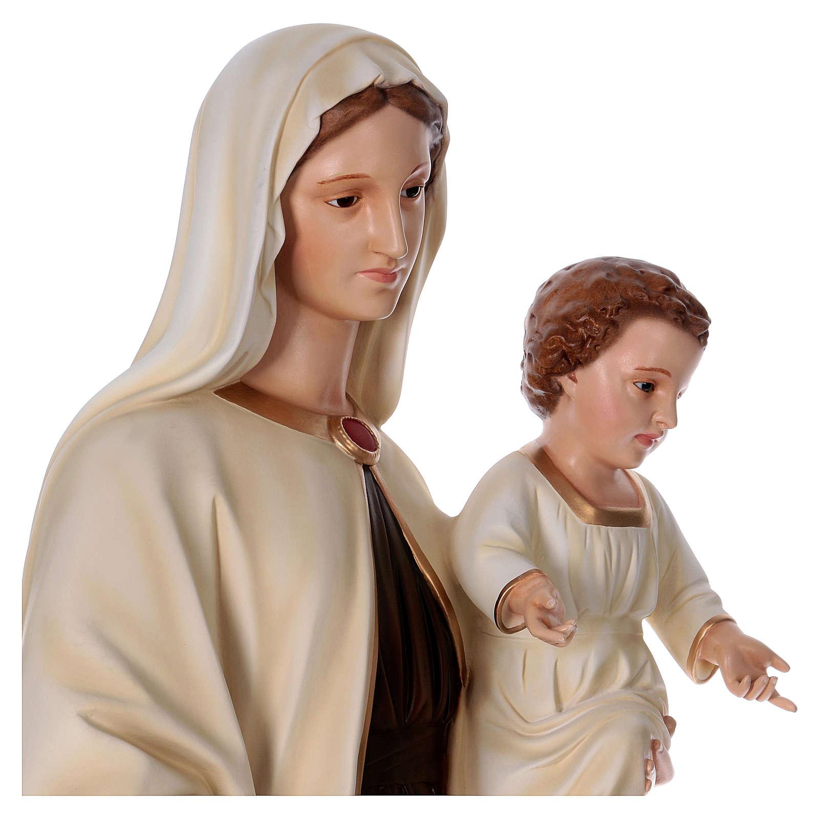 Madonna con bambino 170 cm vetroresina occhi vetro 4