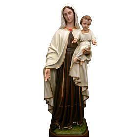 Madonna con bambino 170 cm vetroresina s1