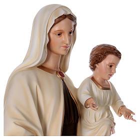 Madonna con bambino 170 cm vetroresina occhi vetro s6