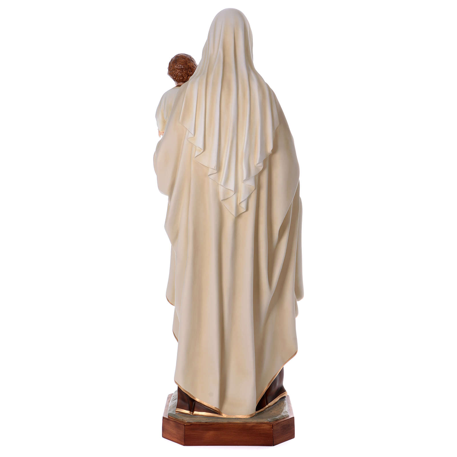 Virgin Mary with Baby Jesus in painted fiberglass, 170cm 4