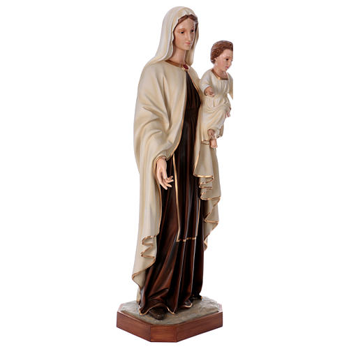 Virgin Mary with Baby Jesus in painted fiberglass, 170cm 5