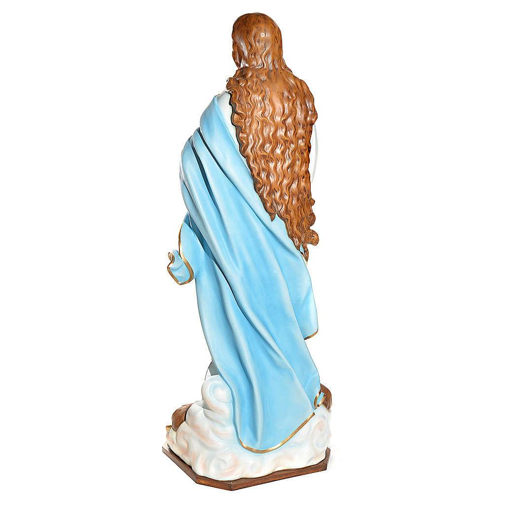 Statue Vierge de l'Assomption marie fibre de verre 180cm 4