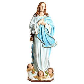 Statue Vierge de l'Assomption marie fibre de verre 180cm s8