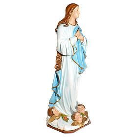 Statue Vierge de l'Assomption marie fibre de verre 180cm s9
