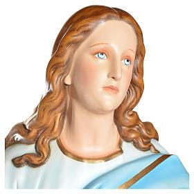 Statue Vierge de l'Assomption marie fibre de verre 180cm s12