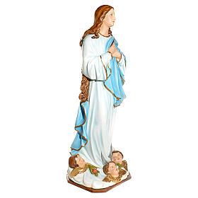 Statue Vierge de l'Assomption marie fibre de verre 180cm s2