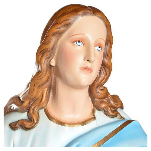 Statue Vierge de l'Assomption marie fibre de verre 180cm 12