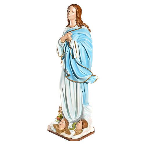 Statue Vierge de l'Assomption marie fibre de verre 180cm 3