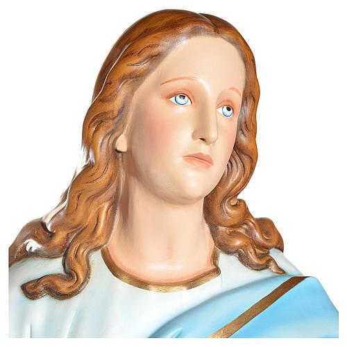 Statue Vierge de l'Assomption marie fibre de verre 180cm 5