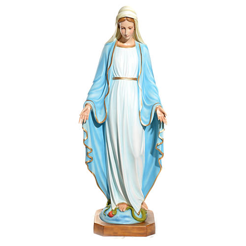 Virgen Inmaculada ojos de cristal 145 cm. fibra de vidrio 1