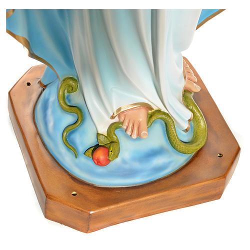 Virgen Inmaculada ojos de cristal 145 cm. fibra de vidrio 6