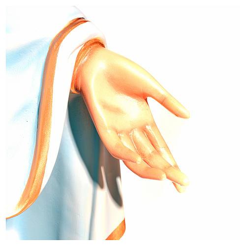 Virgen Inmaculada ojos de cristal 145 cm. fibra de vidrio 7