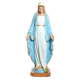 Statue Vierge Immaculée yeux en cristal fibre de verre 145cm s1