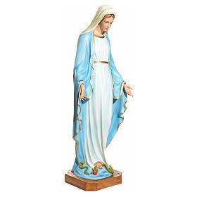 Statue Vierge Immaculée yeux en cristal fibre de verre 145cm s2