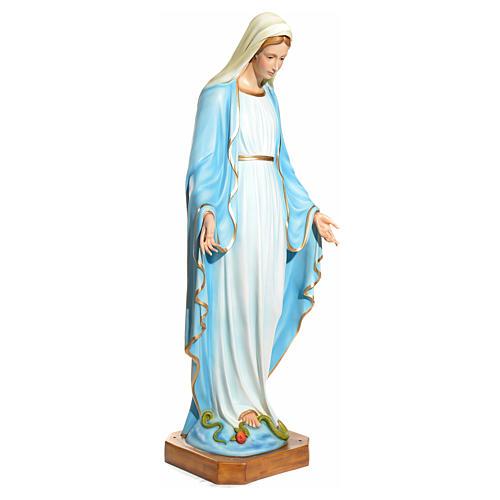 Statue Vierge Immaculée yeux en cristal fibre de verre 145cm 2