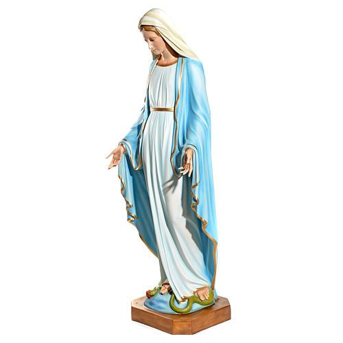 Statue Vierge Immaculée yeux en cristal fibre de verre 145cm 3