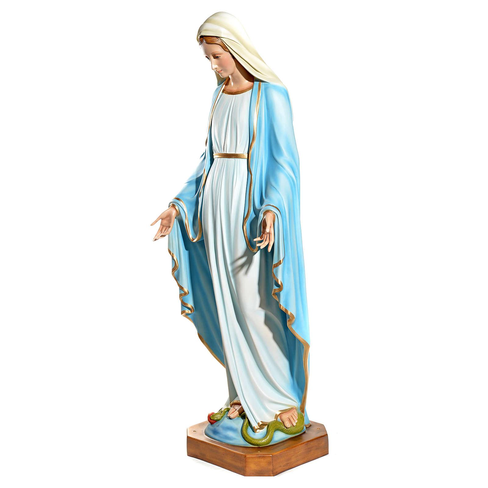 Statue Vierge Immaculée fibre de verre 145cm peinte 4