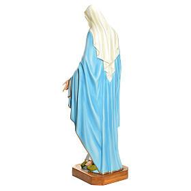 Statue Vierge Immaculée fibre de verre 145cm peinte s4