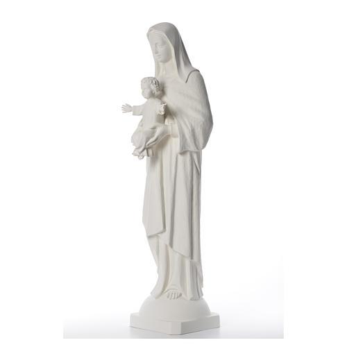 Virgen con Niño 110 cm fibra de vidrio blanca 2