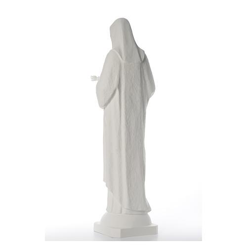 Madonna con bimbo 110 cm vetroresina bianca 3